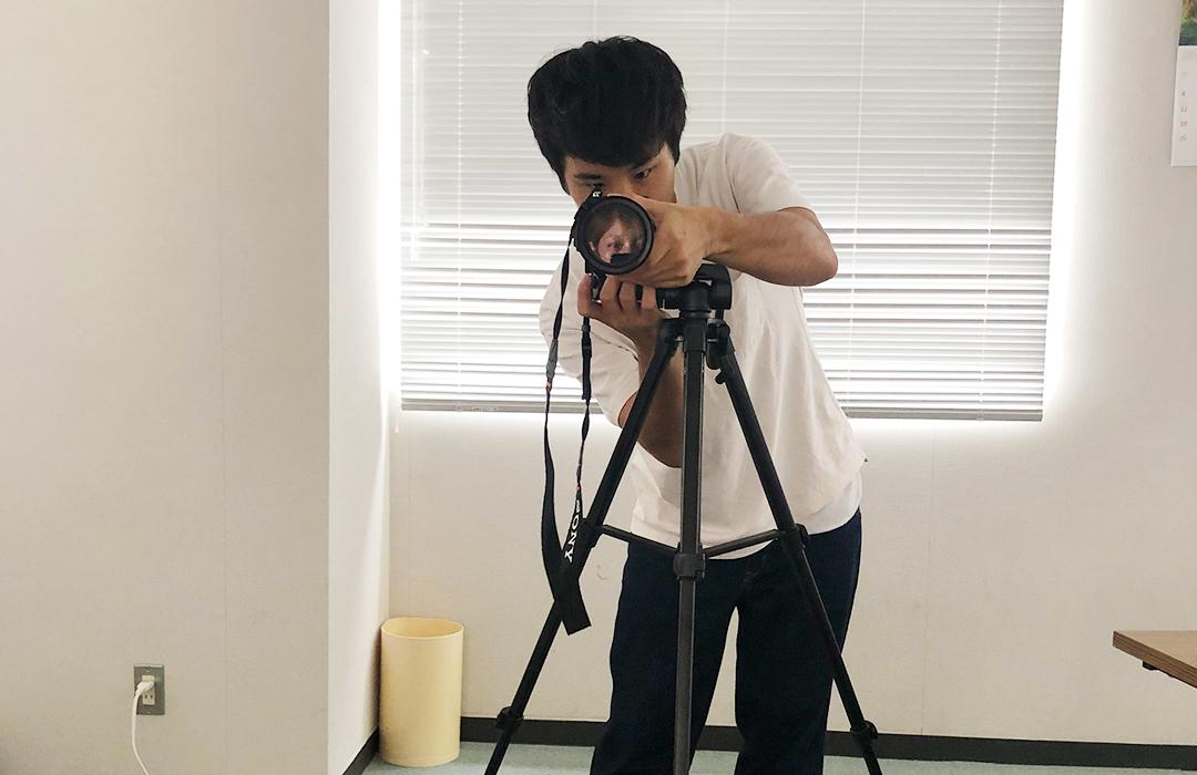 写真撮影の試し撮り
